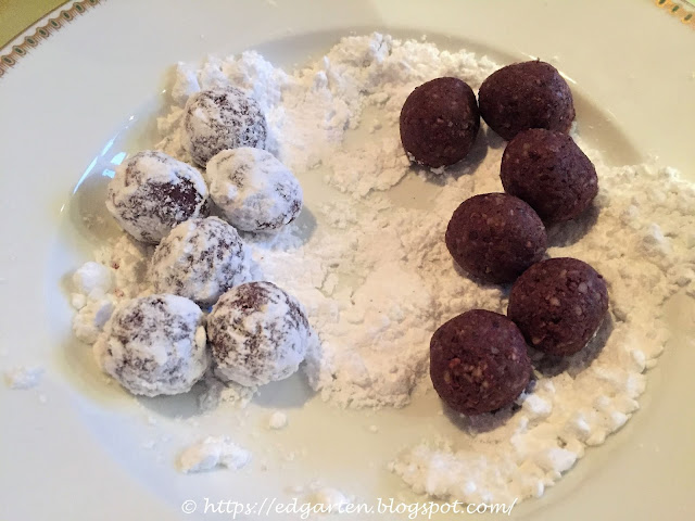Schokoladenkugeln fertig geformt