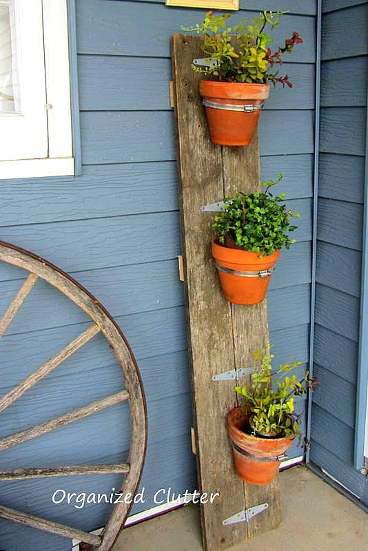 Reclaimed Wood Flower Pot Holder for the Junk Garden