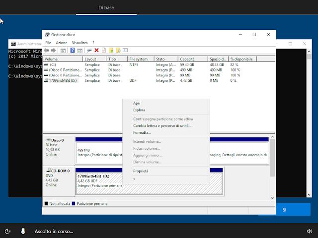 Windows 10, Avvio di Gestione disco