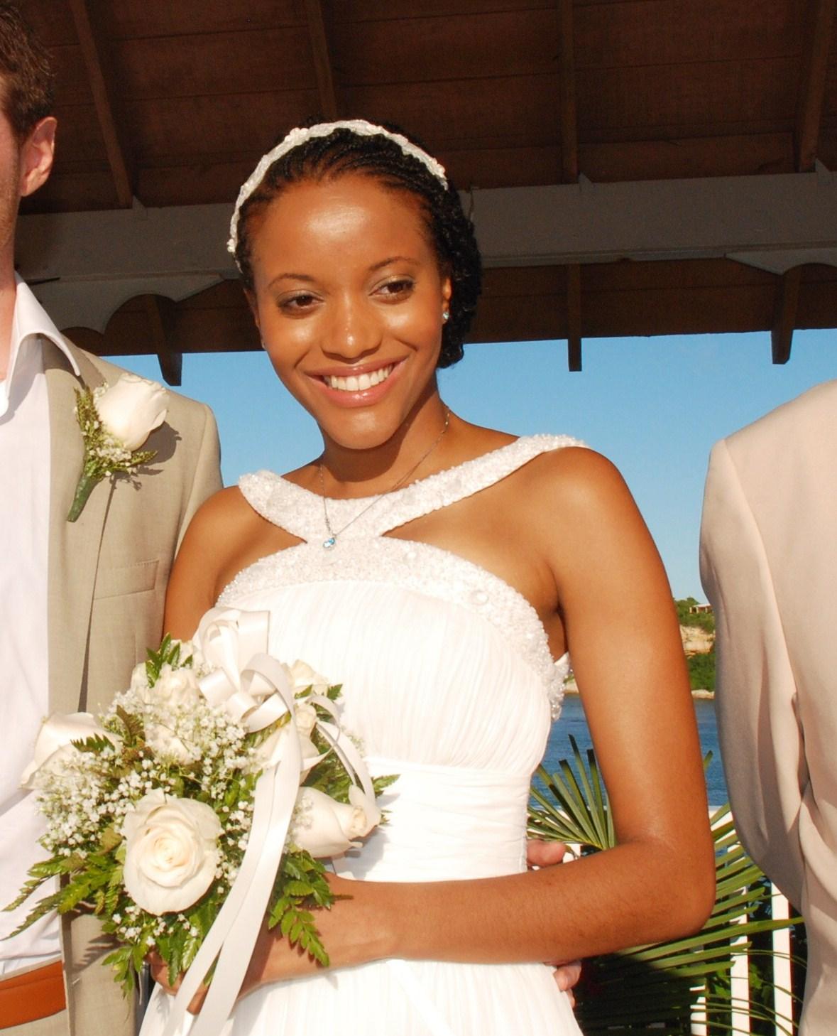 african american wedding hairstyles & hairdos: real bride: elegant