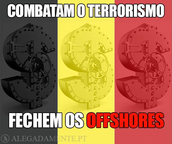 Cifrão em forma de cofre-forte: combatam o terrorismo fechem os Offshores