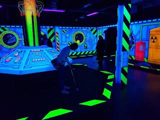 UV glow-in-the-dark minigolf at Gravitee Adventure Golf in Oxford