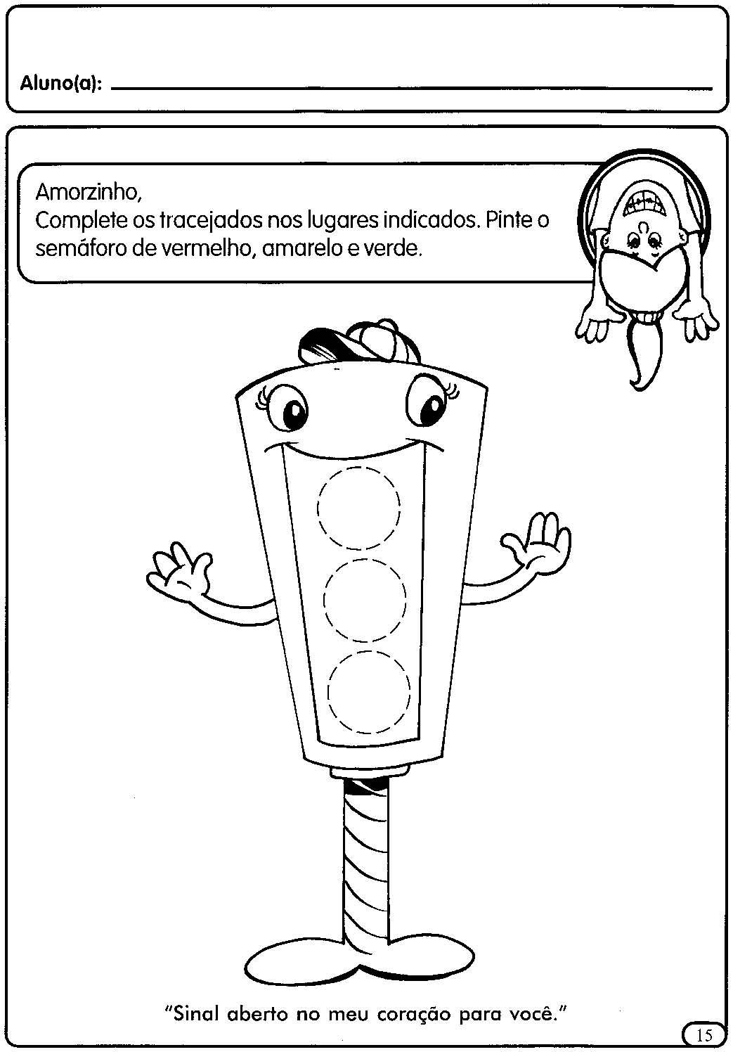 Blog Professor Zezinho : Atividades sobre trânsito, faixa ...