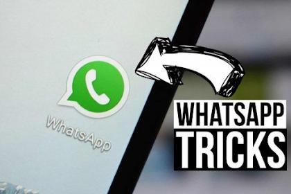 Tips Trik Tersembunyi Whatsapp terbaru 2019