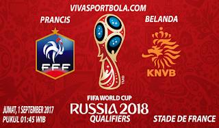 Prediksi Prancis vs Belanda 1 September 2017