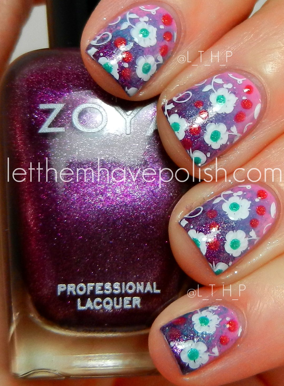 Let Them Have Polish!: Pink Wednesday!! Zoya Shelby Summer
