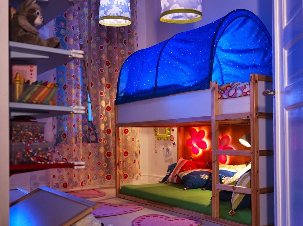 Modelo de cama original para niña