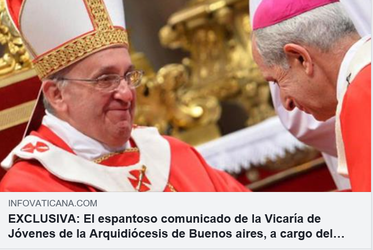 More apostasy coming from the  successor of Bergoglio