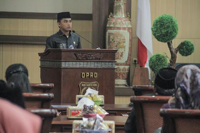 Fraksi - Fraksi DPRD Apresiasi Kenerja Pemkab Muba TA 2017