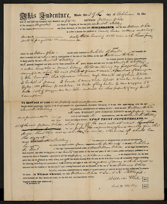 Indenture between William White and Jacob K. Stribling