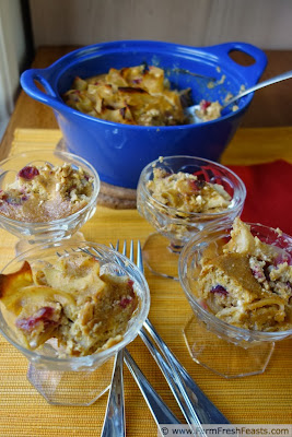 Pumpkin Cranberry Maple Kugel | Farm Fresh Feasts