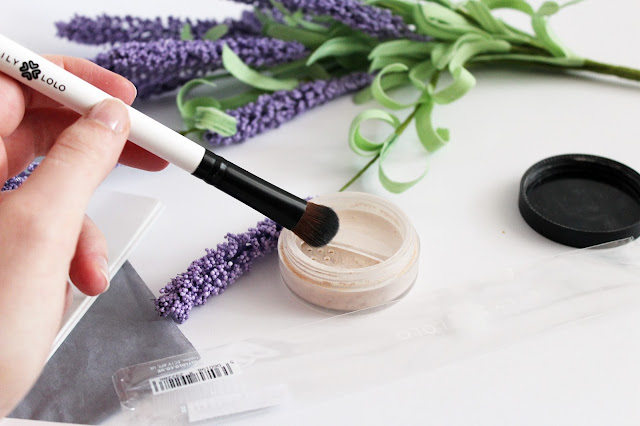 Pędzel do Korektora Mineralnego Brown Concealer Brush
