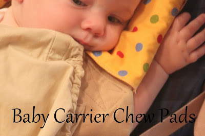 baby carrier chew pads sewing tutorial