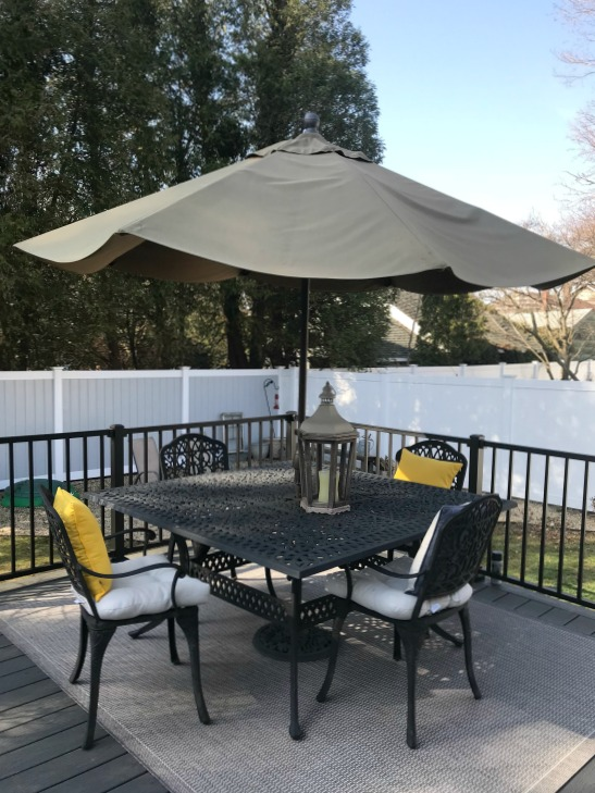 Cleaning a patio umbrella