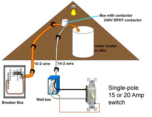 wiring of water heater switch 15 20 amp switch elec. Black Bedroom Furniture Sets. Home Design Ideas