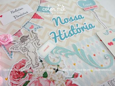 álbum scrapbook love amor casamento noivado lua de mel