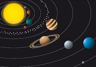 lamina para rellenar del sistema solar