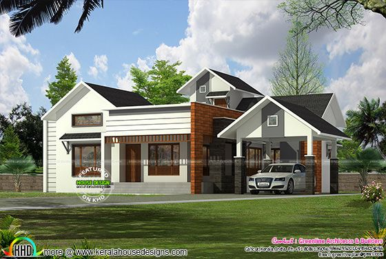 1841 sq-ft single floor 3 bedroom plan