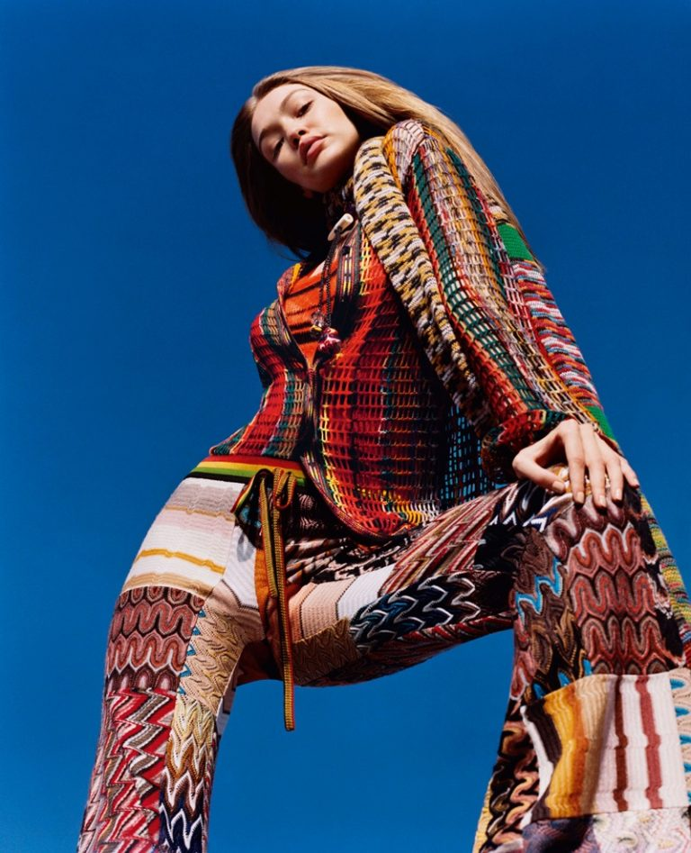 Missoni Fall Winter 2018 Campaign featuring Gigi Hadid
