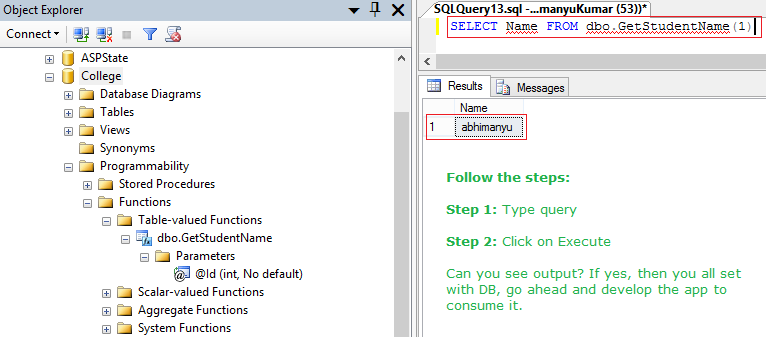 Mapping Table-Valued Functions (TVFs) using Entity Framework