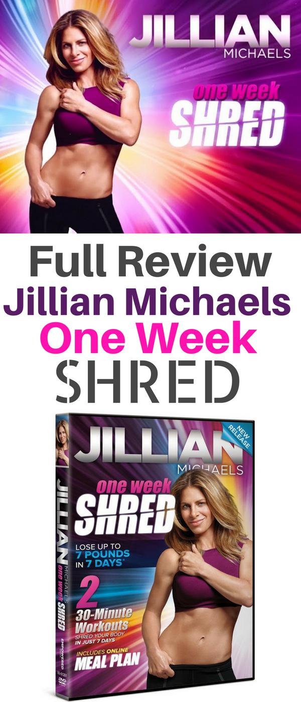 Review Jillian Michaels One Week Shred