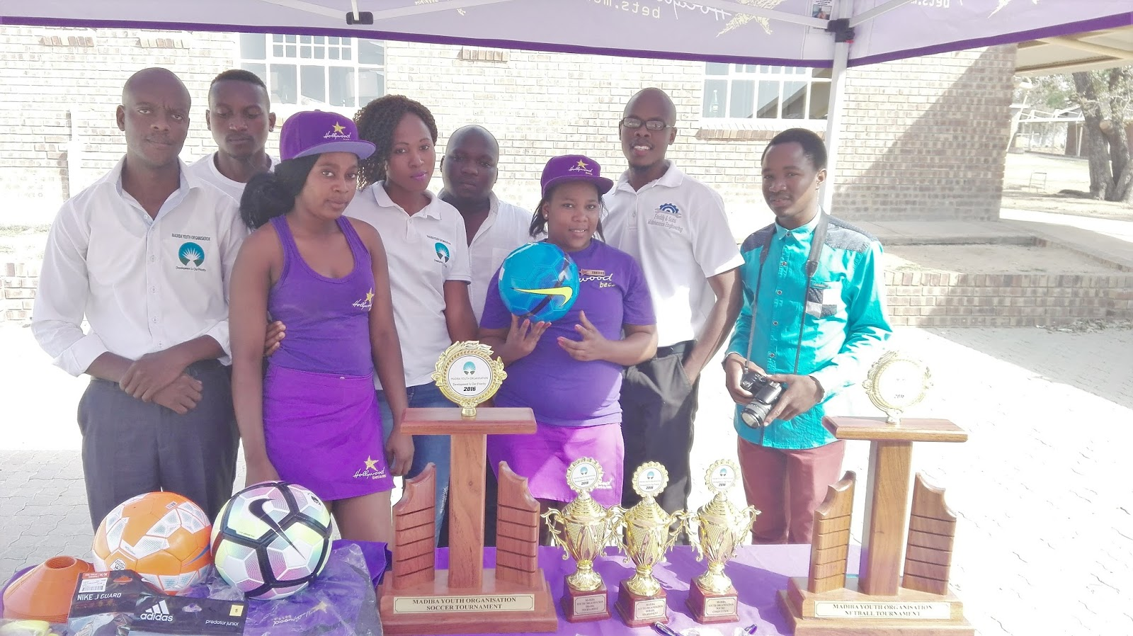 Madiba Youth Organisation received some educational and sporting equipment from Hollywoodbets Mashishing as part of the Hollywoodbets Social Responsibility Programme