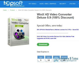 Giveaway : WinX HD Video Converter Deluxe 5.9