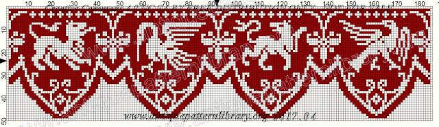 szydełkowy filet wzory