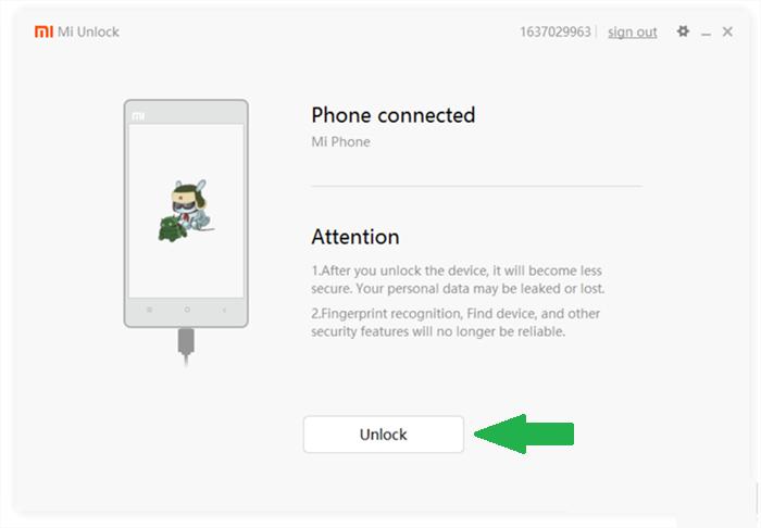Tombol Unlock Bootloader Xiaomi