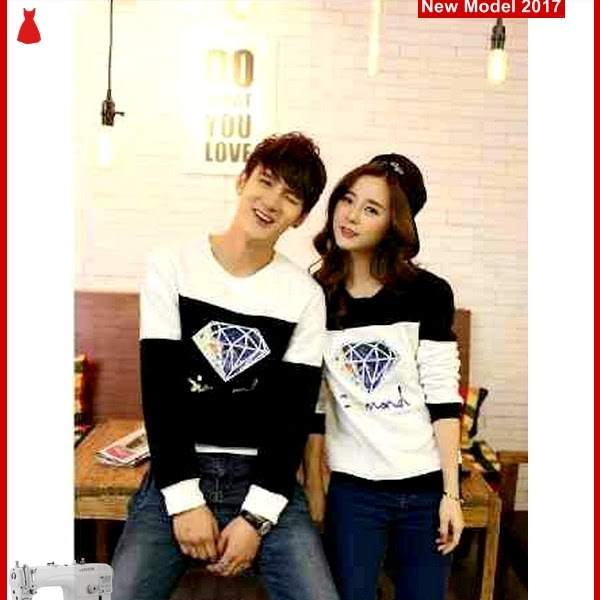 MSF0006 Model Couple Sweater Murah Diamond Black