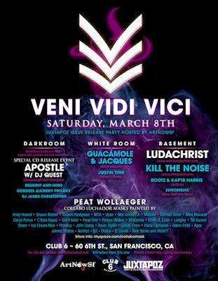VVV Juxtapoz Release Show flier