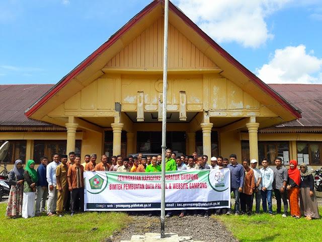 Pelatihan website gampong Kecamatan Geumpang