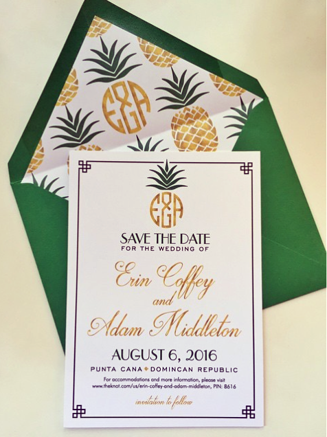 Tropical Glam Save the Date
