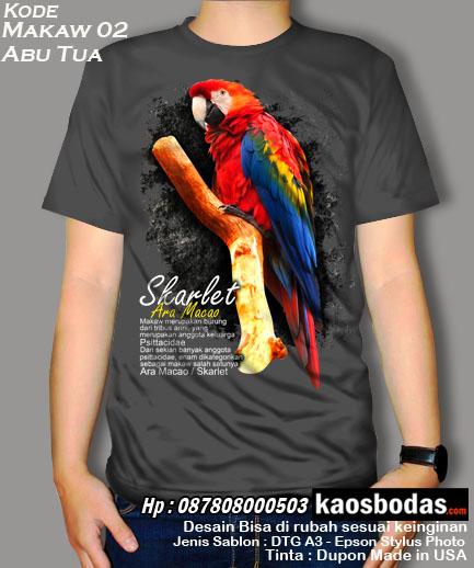 Kaos Burung Makaw 02