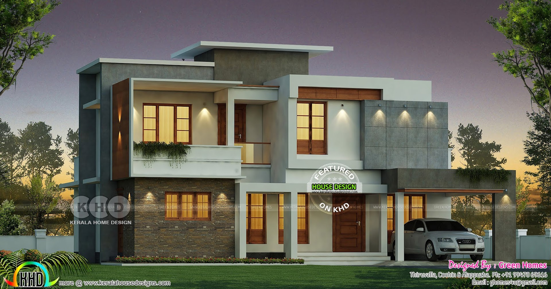 4 Bhk 2350 Sq Ft Box Type Modern Kerala Home Design Kerala