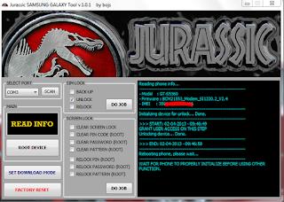 Jurassic Samsung Tool V1.0.1 Latest 2017 Version Free Download