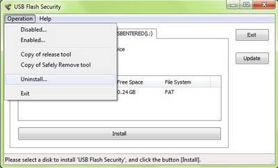 set password for usb