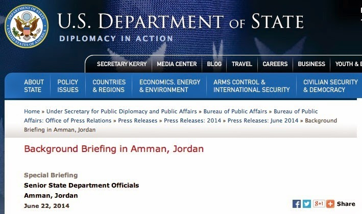 U.S. State Department, Amman briefing June 22, 2014