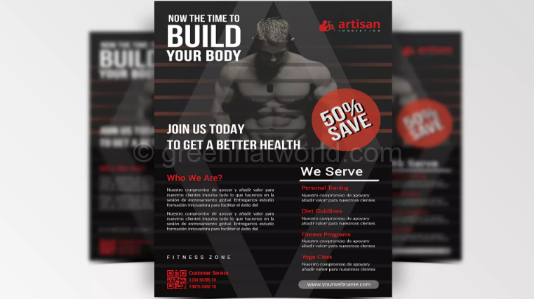 Fitness Flyer PSD Template