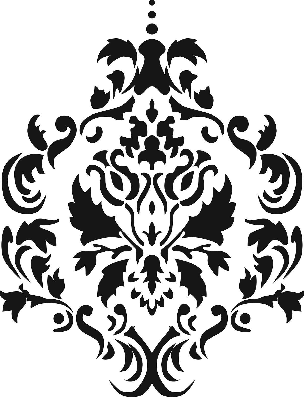 simple damask stencil - 614×794
