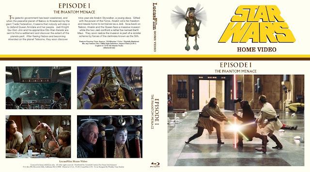 Star Wars: Episode I - The Phantom Menace Bluray Cover
