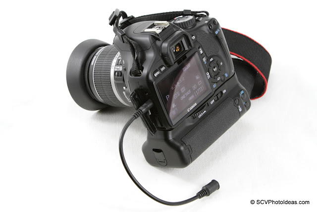 N3F-E3M Converter cable on Canon EOS 550D overview