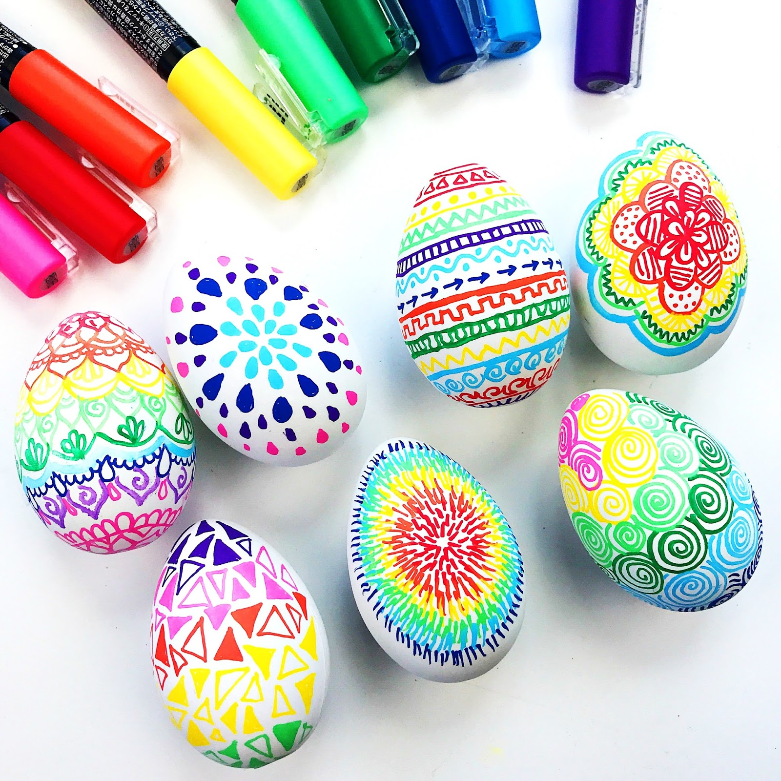 Colorful DIY Easter Doodle Eggs • Color Made Happy