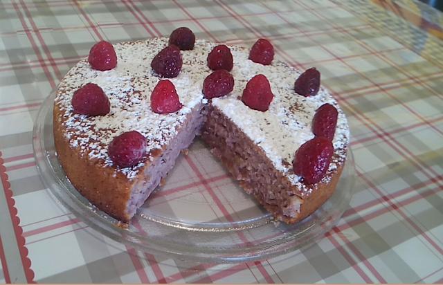 gâteau moelleux fondant amandes framboises surgelées