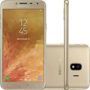 "Smartphone Samsung Galaxy J4 32GB Dual Chip Android 8.0 Tela 5.5"" Quad-Core 1.4GHz 4G Câmera 13MP"