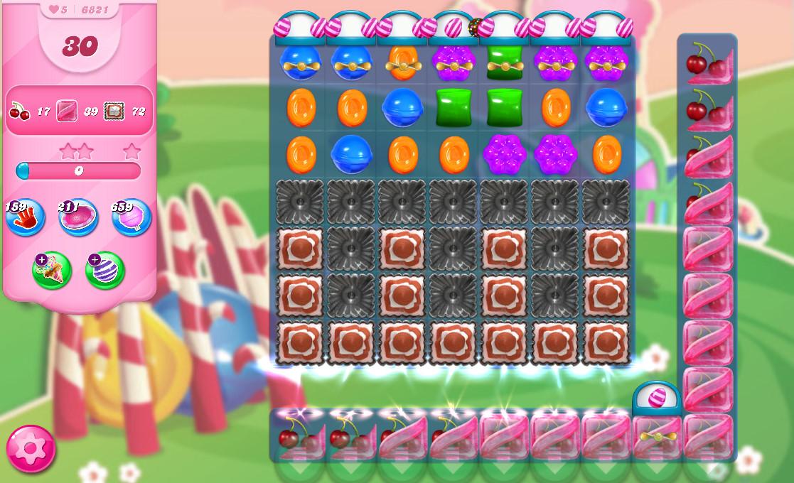 Candy Crush Saga level 6821