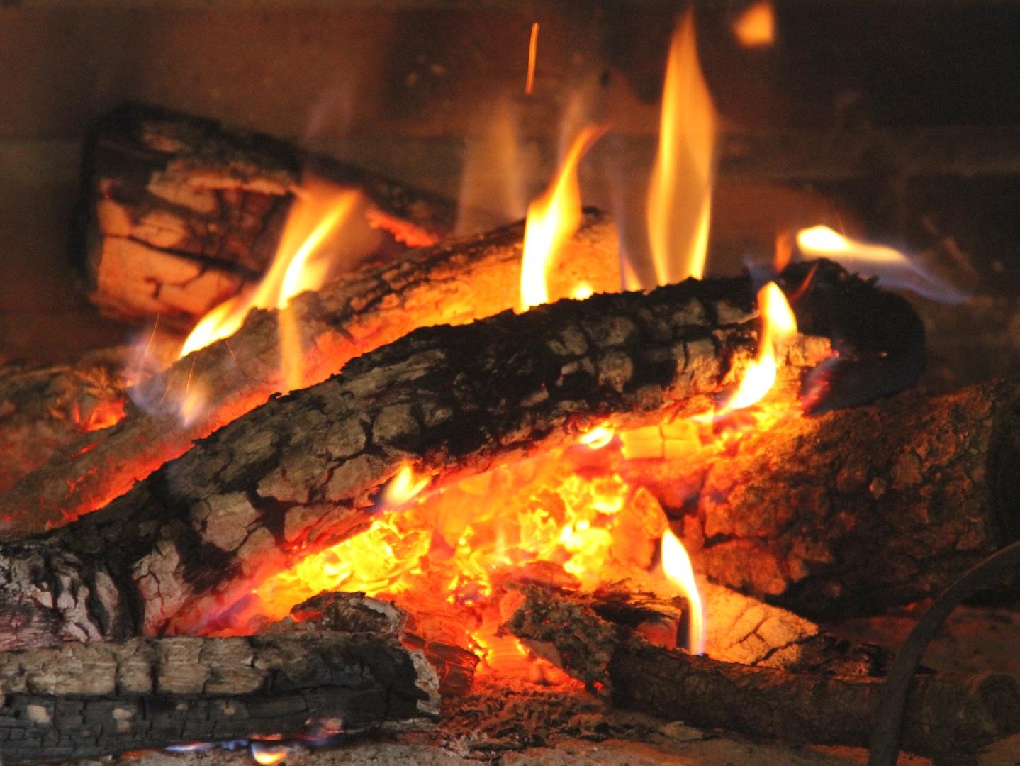 Resultado de imagen de chimenea encendida