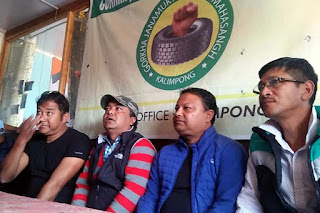 Kalimpong branch of the Janmukti Chalak Mahasangh support Anit Thapa Binay Tamang