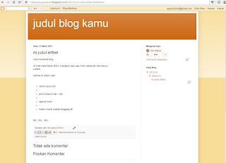 Panduan cara membuat blog Dengan Blogspot - blog