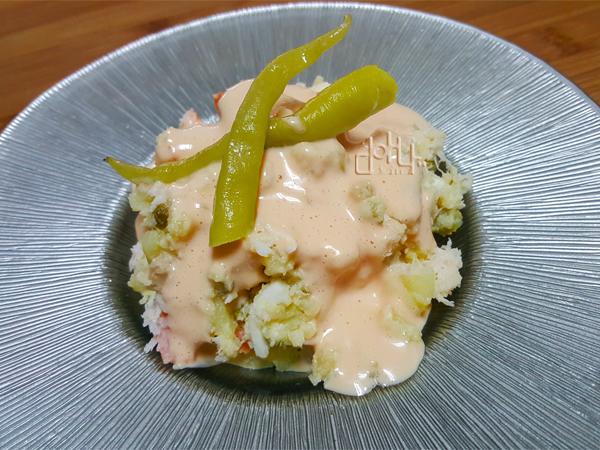 Ensaladilla rusa con mayonesa de gazpacho